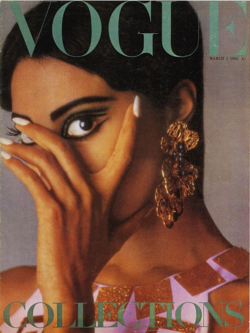 Donyale Luna on Vogue cover