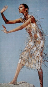 Donyale Luna in Paco Rabanne dress, by Richard Avedon